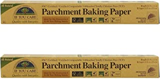 (2 包)If You Care 硅胶涂层未漂白皮质/烘焙纸 70 英尺卷