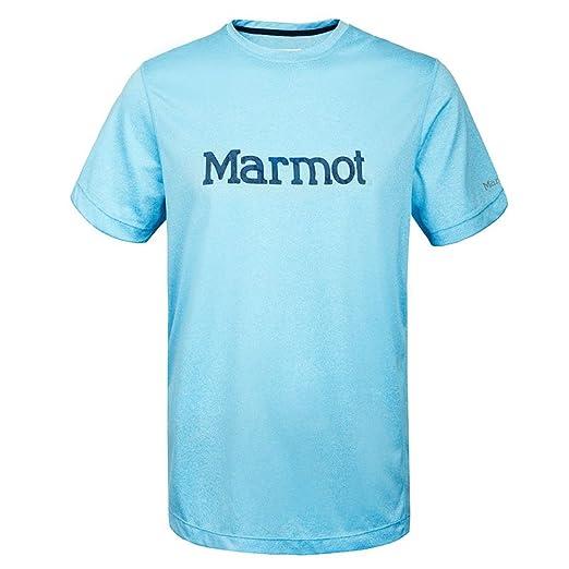 Marmot 土拨鼠 男士 户外运动跑步防晒速干排汗短袖T恤 536001356 灰色 175/92A