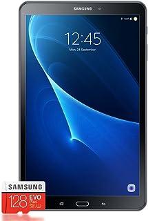 Samsung 三星 Galaxy Tab A T580 25.54 厘米(10.1英寸)平板电脑(1.6 GHz 八核,2GB 内存,32GB eMMC,Wifi,Android 6.0)黑色 + Samsung 三星 Evo Plus Micro SDXC 128GB
