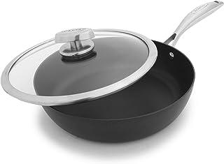 Scanpan PRO IQ 不粘带盖炒锅,2.3 夸脱,黑色 26 cm