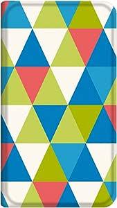 智能手机壳 手册式 对应全部机型 薄型印刷手册 cw-120top 套 手册 几何学图案 超薄 轻量 UV印刷 壳WN-PR158759-S Galaxy S SC-02B 图案 A