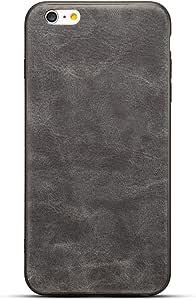 HONTECH iPhone 6 iPhone 6s 手机壳,复古 PU 皮革超薄保护套适用于 Apple iPhone 6 6sip6vintage-05 iPhone 6 深灰色