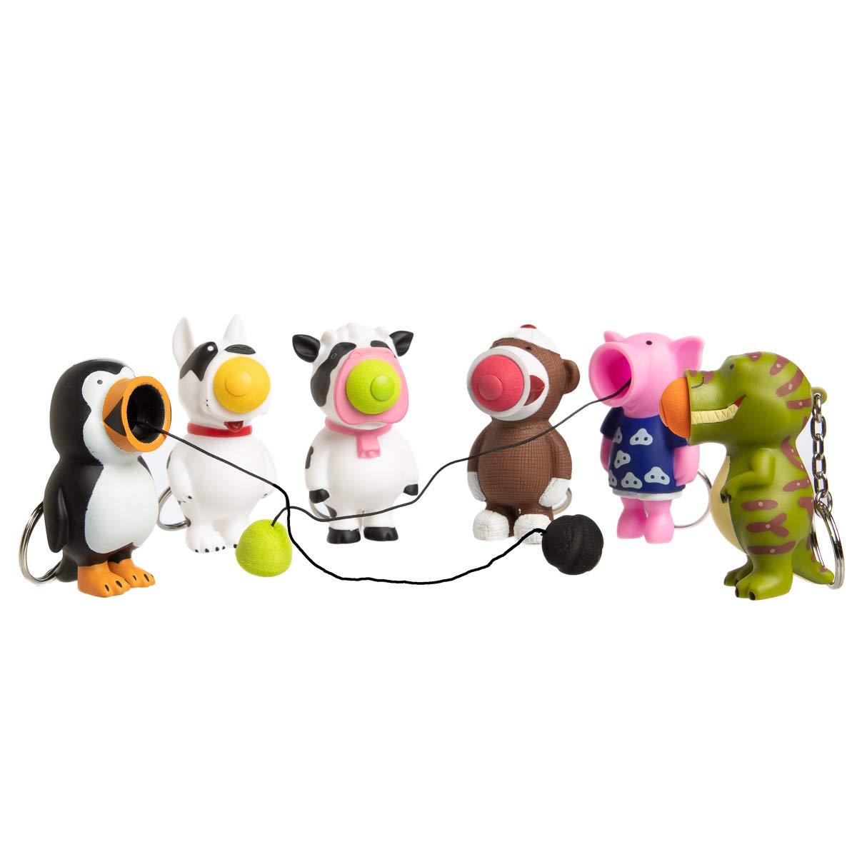 Hog Wild(6 件套)球波普尔玩具挤压推球流行钥匙扣派对喜爱儿童玩具成人