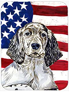 Caroline's Treasures USA American Flag with English Setter Glass Cutting Board, Large, Multicolor