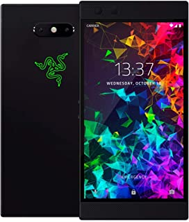 Razer Phone 2 (New): Unlocked Gaming Smartphone – 120Hz QHD Display – Snapdragon 845 – Wireless Charging – Chroma – 8GB RAM - 64GB - Satin Black