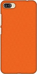 AMZER 设计师纤薄搭扣硬质手机壳带屏幕保护套件适用于华硕 Zenfone 4 Max ZC554KL,高清彩色超轻背壳AMZ601040404211 Carbon Fiber Redux Tangy Orange 15