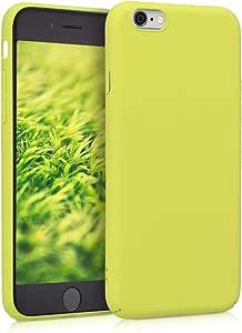 kwmobile 手机壳适用于 Apple iPhone 6 / 6S - 硬塑料防刮防震保护套智能手机外壳 - 白色黑色45718.75_m000242 .霓虹黄