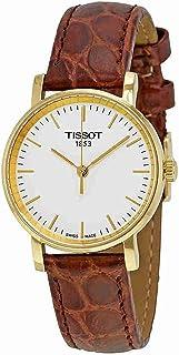 Tissot 女士 T1092103603100 白色表盘皮革表带