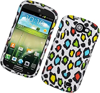Eagle Cell PISAMI437R2D168 Stylish Hard Snap-On Protective Case for Samsung Galaxy Express i437 - Retail Packaging - Rainbow Leopard