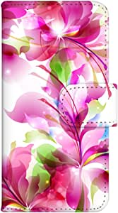 智能手机壳 手册式 对应全部机型 印刷手册 wn-596top 套 手册 花朵图案 UV印刷 壳WN-PR061446-MX AQUOS Xx2 502SH B款