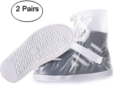 ARUNNERS 防水鞋套 防雨靴 Overshoes 旅行防雨装备 适合女士 男童 S (Women 4-4.5) 白色 FSXTYD