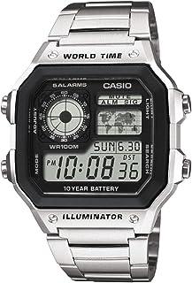 Casio 卡西欧 男士手表 树脂/不锈钢 带有世界时间功能 长电池寿命-防水