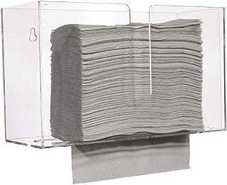 Cq 亚克力壁挂式纸巾抽纸器,适用于 Z 型折叠、C 型折叠或多折纸巾,适用于浴室和厨房的丙烯酸纸巾架,适用于墙壁和台面
