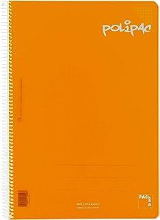 记事本 方格 4 PP Polipac 80hj 橙色
