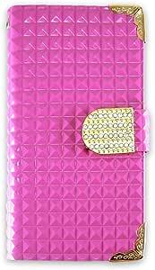 whitenuts 保护壳 手册式 漆皮 装饰品WN-OD232898 2_ Xperia X Compact SO-02J 粉色