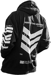 宇宙面料日本印花街頭服 Cyberpunk 時尚連帽套頭運動衫