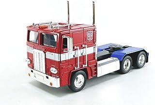 Optimus Prime 卡车,配机器人在底盘上 Transformers G1 好莱坞骑行系列压铸模型