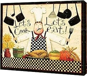 "PrintArt GW-POD-23-DDP-RC-481C-24x19""Get Cooking"" 由 Dan DiPaolo 创作画廊装裱艺术微喷油画艺术印刷品 30"" x 24"" GW-POD-23-DDP-RC-481C-30x24"