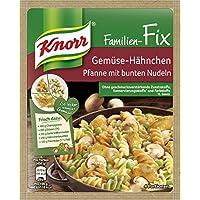 Knorr Fix Gemüse-H?hnchen Pfanne mit bunten Nudeln, 15er-Pack (15 x 4 Portionen)