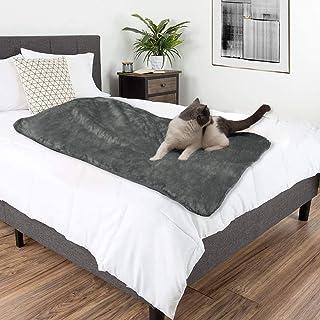 Pettom 防水毛毯狗垫宠物液体防小便毯适用于床沙发沙发猫床保护罩婴儿舒适羊羔绒衬里扔毯适用于椅子汽车露营划船60x50英寸