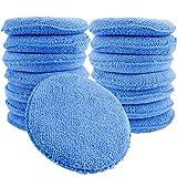 Augshy 15 件标准超细纤维涂抹垫 - 蓝色蜡涂器