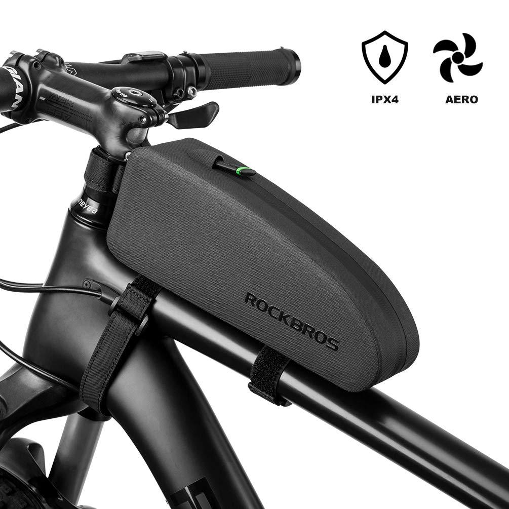 トップチューブパケット電話バッグ旅行のRockBros IPX4防水バッグ自転車のフレームの自転車の前部自転車アクセサリーポケット