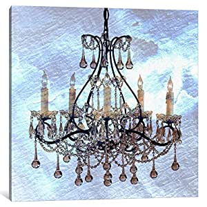 iCanvasART ICA100-1PC3 Frosted Chandelier Canvas Print by Ginger, 0.75 by 18 by 18-Inch