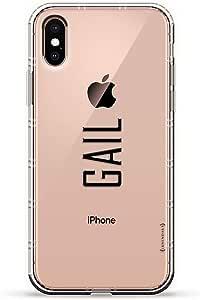 Luxendary Air 系列透明硅胶保护套 3D 印花设计气袋缓冲缓冲 iPhone Xs/X(5.8 英寸屏幕)LUX-IXAIR-NMGAIL2 NAME: GAIL, MODERN FONT STYLE 透明