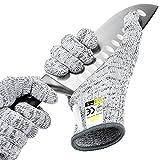 Glove Station 超耐用系列抗切割手套 - 高性能级别5,食品级 大 灰色 GS-CUT5HPPE-LG-SS