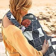 UHINOOS 哺乳巾,Infinity 柔软*喂养棉质婴儿无透明棉质妈妈哺乳围裙 深色