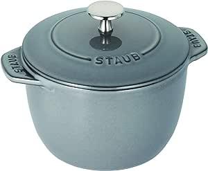 Staub La Cocotte de GOHAN 灰色系列 饭锅 La Cocotte de GOHAN 40509-702 灰色 M 16cm(2合炊き) 40509-703