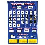 Learning Resources 日历和天气口袋学习玩具 早教教具 136张双面全彩卡片(适合3岁以上)