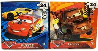 Disney Pixar 汽车总动员拼图套装 - 立方体形状的盒子 - 每盒 24 片
