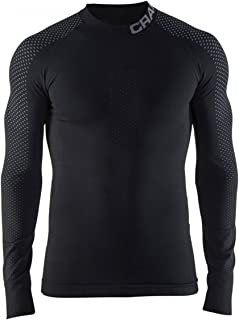 Craft Sportswear 男式 保暖强度 跑步和训练 健身锻炼 户外运动紧身 贴身 打底层 长袖 上衣:凉爽/保护/通风/自行车/滑雪/吸湿排汗