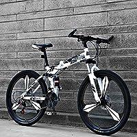 新款26寸自行车三刀六刀十刀一体轮路虎款折叠变速山地车成人单车21速24速27速双碟刹男女式单车