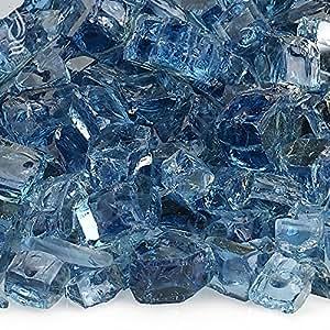 American Fireglass 5 磅 反光玻璃 壁炉火炉 火炉 火炉 玻璃,1/2英寸,钴蓝色 1/2 Inch x 10 Pounds AFF-PABLRF12-10