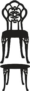 Lot 26 Studio Louis 椅子和桌子 - 抛光乙烯基墙贴,40.64 X 121.92 厘米