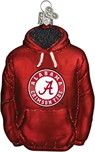 Old World Christmas University of Alabama Hoodie Glass Blown Ornament