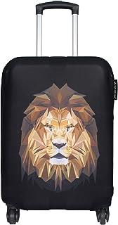 Explore Land *加厚氨纶旅行行李箱保护套适合 45.72-81.28 厘米行李箱 狮子 M(23-26 inch luggage)