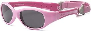 RKS 美国 防紫外线男童女童宝宝儿童太阳镜 附可拆卸镜 建议2岁以上(探险者)浅粉+深粉色
