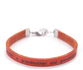 Melix Home Grandma Gifts 皮质手链礼物 送给孙女奶奶奶奶奶奶奶奶奶 圣诞生日手链