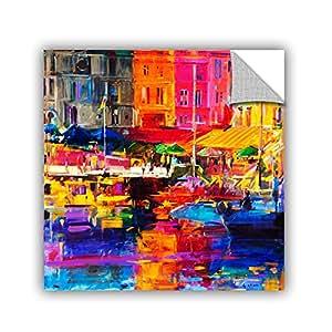 "ArtWall Peter Graham's Honfleur Harbour, 2011, Art Appeelz Removable Wall Art Graphic, 24 by 24"""