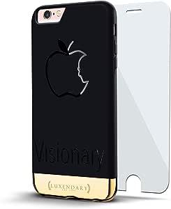 设计师手机壳LUX-I624K-APPLE1 VISIONARY JOBS SILHOUETTE Velvet Black & Gold