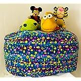MSB 儿童填充动物收纳豆袋椅带超长口袋 - 大豆袋儿童椅 有 3 种图案 96.52 cm