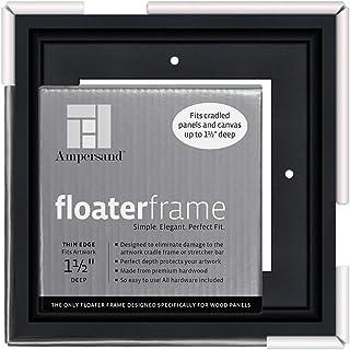 Ampersand 木板浮架,3.81 厘米深,薄,15.24 x 15.24 厘米,黑色 (FTHIN150606B)