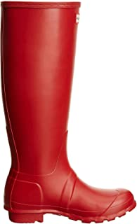Hunter Women's Original Tall Wellington Boot Mid-Calf Boots Red (Military Red) 3 UK