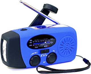 [*] Tiemahun 应急太阳能手摇发电机 NOAA WB AM/FM 收音机飓风野营求生套装 带 3-LED 手电筒 1000mAh 移动电源 088FS