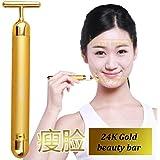 24K Beauty Bar黄金美容棒 康熙来了推荐T型震动美容仪 美腿紧致皮肤 日韩畅销脸部 身体按摩仪