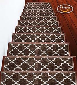 Trellisville-oldCollection-Variation 棕色 Stair Treads 7-Pack TRLV-BRWN-7Pack