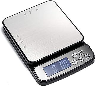 110磅(50千克)数字邮政秤,件数,不锈钢平台,背光LCD,AC适配器,多个重量单位,容量:*大50千克(110磅),*小5克(0.2盎司),可读性:1克(0.03盎司)